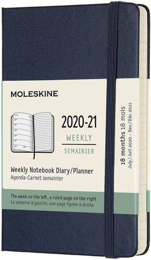 Еженедельник MOLESKINE Academic WKNT,  датированный на 18 месяцев,  208стр.,  синий сапфир [dhb2018wn2]