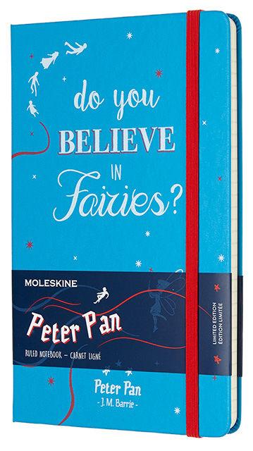 Блокнот Moleskine Limited Edition PETER PAN Large 130х210мм 240стр. линейка Fairies [lepn01dqp060]