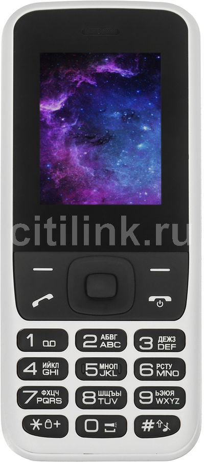 Мобильный телефон DIGMA A177 2G Linx, белыйМобильные телефоны<br>экран: 1.77, 160x128, процессор: Spreadtrum SC6531DA, 312МГц, 1-но ядерный, FM-радио<br><br>Цвет: белый
