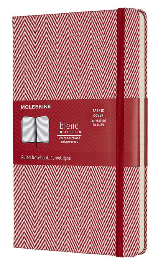 Блокнот Moleskine Limited Edition BLEND Large 130х210мм обложка текстиль 192стр. линейка красный [lcbd02qp060f]