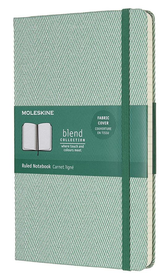 Блокнот Moleskine Limited Edition BLEND Large 130х210мм обложка текстиль 240стр. линейка зеленый