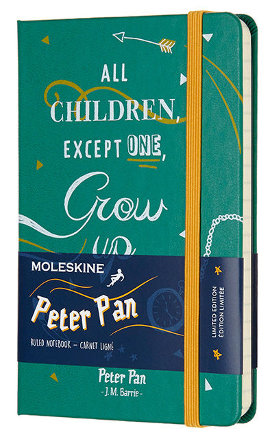Блокнот Moleskine Limited Edition PETER PAN Pocket 90x140мм 192стр. линейка Indians [lepn01amm710]