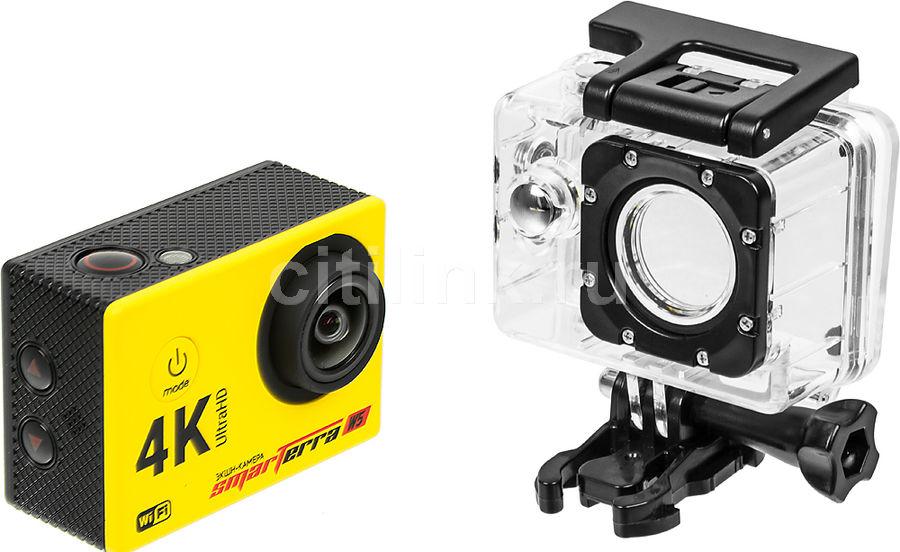 Экшн-камера SMARTERRA W5 4K,  желтый [bsw5yl]
