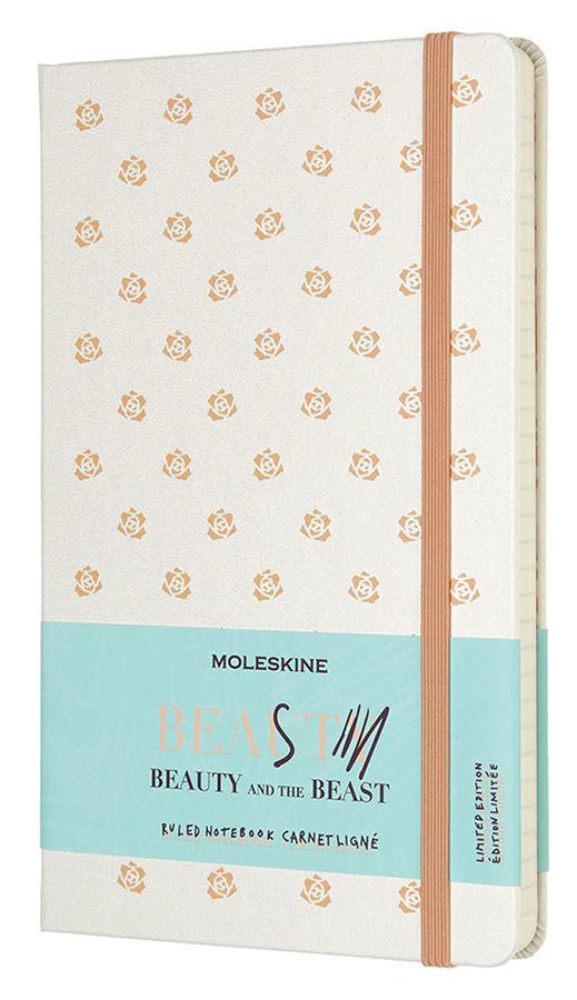 Блокнот Moleskine Limited Edition BEAUTY & BEAST Large 130х210мм 240стр. линейка Rose [lebb01qp060bu]
