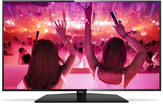 LED телевизор PHILIPS 43PFT5301/60 R, 43, FULL HD (1080p), черный телевизор philips 32pht4100 60 hd pmr 100 черный