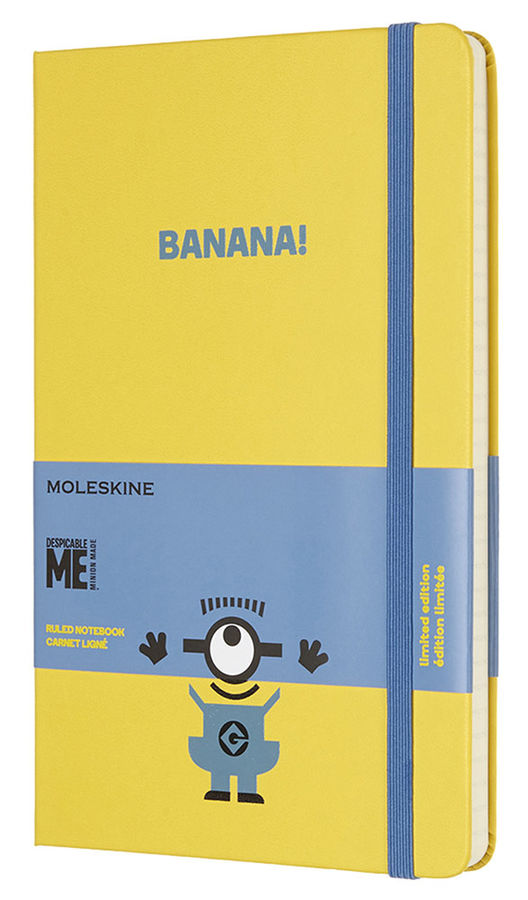 Блокнот Moleskine Limited Edition MINIONS Large 130х210мм 240стр. линейка желтый [lemi01qp060m10]