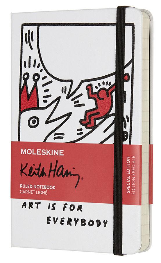 Блокнот Moleskine LE KEITH HARING Pocket 90x140мм 192стр. линейка белый