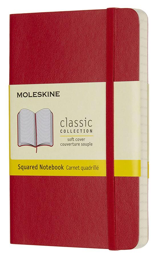 Блокнот Moleskine CLASSIC SOFT Pocket 90x140мм 192стр. клетка мягкая обложка красный