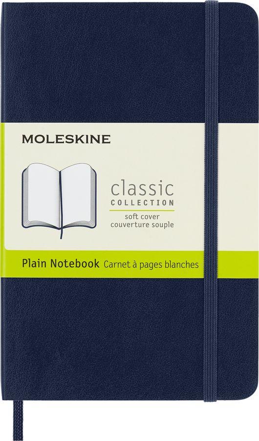 Блокнот Moleskine CLASSIC SOFT Pocket 90x140мм 192стр. нелинованный мягкая обложка синий сапфир