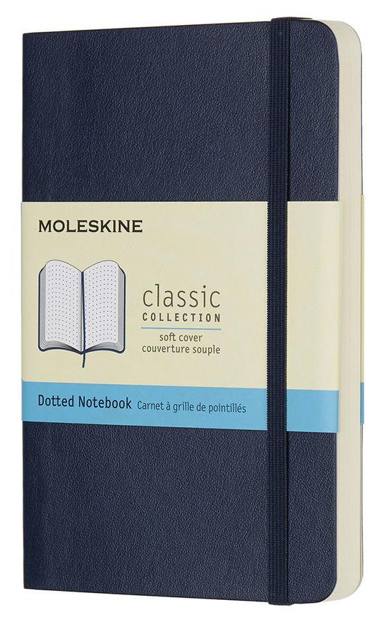 Блокнот Moleskine CLASSIC SOFT Pocket 90x140мм 192стр. пунктир мягкая обложка синий сапфир