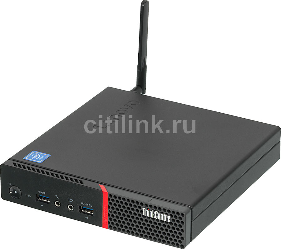 Компьютер  LENOVO ThinkCentre M600 TINY,  Intel  Celeron  J3060,  DDR3 4Гб, 128Гб(SSD),  Intel HD Graphics 400,  noOS,  черный [10gb000tru]