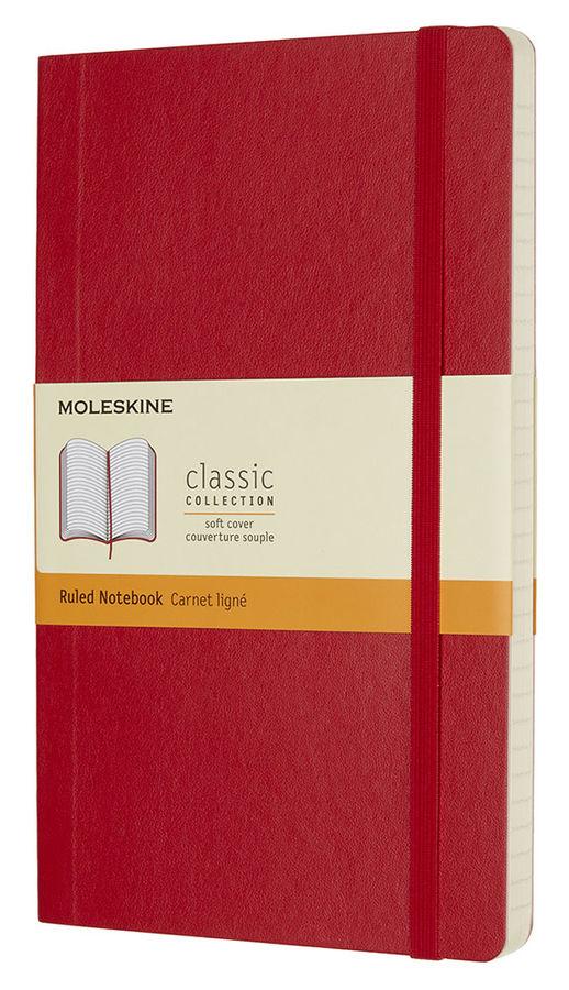 Блокнот Moleskine CLASSIC SOFT Large 130х210мм 192стр. линейка мягкая обложка фиксирующая резинка кр