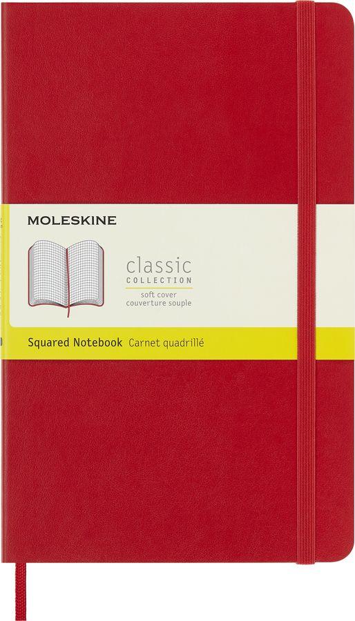 Блокнот Moleskine CLASSIC SOFT Large 130х210мм 192стр. клетка мягкая обложка красный