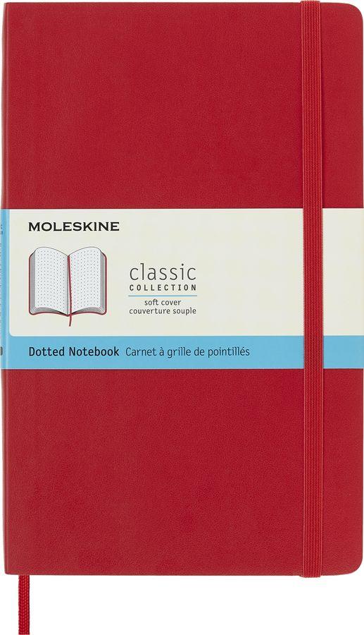 Блокнот Moleskine CLASSIC SOFT Large 130х210мм 192стр. пунктир мягкая обложка красный