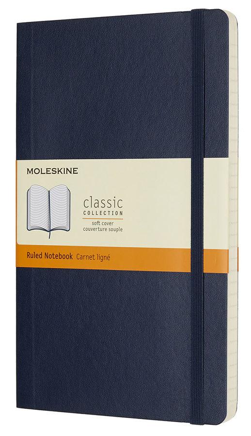 Блокнот Moleskine CLASSIC SOFT Large 130х210мм 192стр. линейка мягкая обложка синий сапфир
