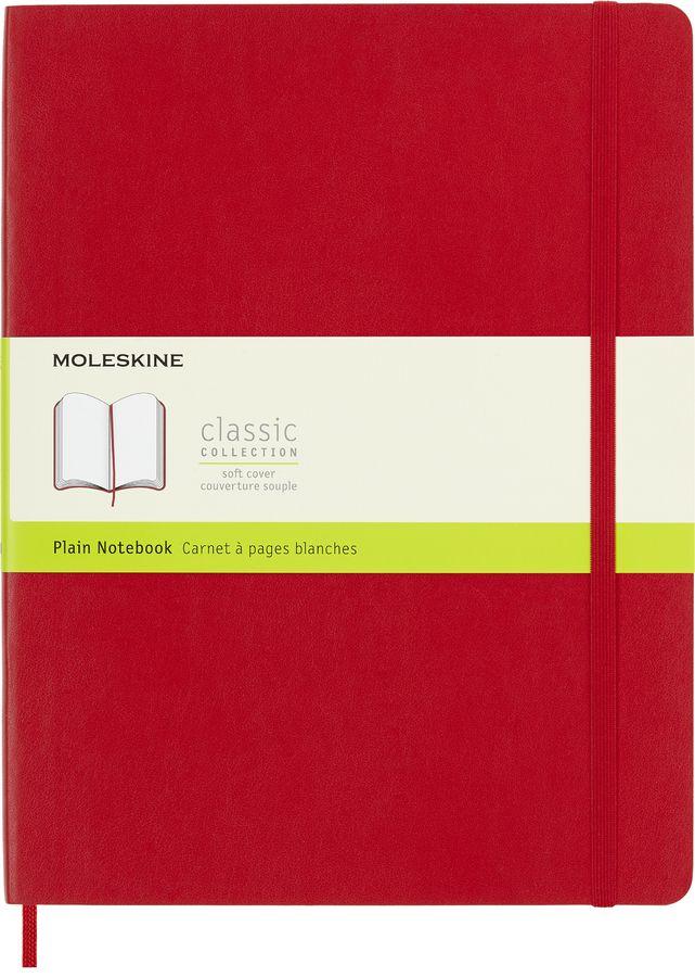 Блокнот Moleskine CLASSIC SOFT XLarge 190х250мм 192стр. нелинованный мягкая обложка красный