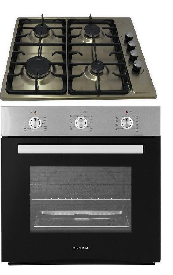 Встраиваемый комплект Darina 1Т1 BGM341 11 X + 1U5 BDE111 707 X3 черный/нержавеющая сталь