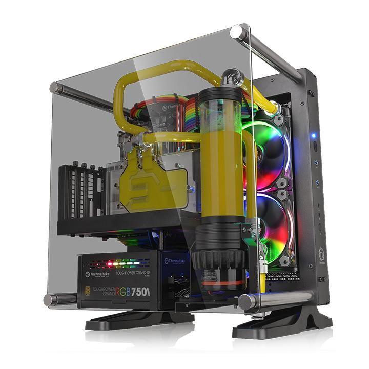 Корпус miniITX THERMALTAKE Core P1 TG, Mini-Tower, без БП,  черный