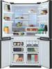 Холодильник SHARP SJ-FJ97VBK,  трехкамерный, черный/стекло вид 2