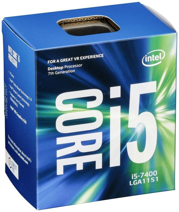 Процессор INTEL Core i5 7400, LGA 1151,  BOX