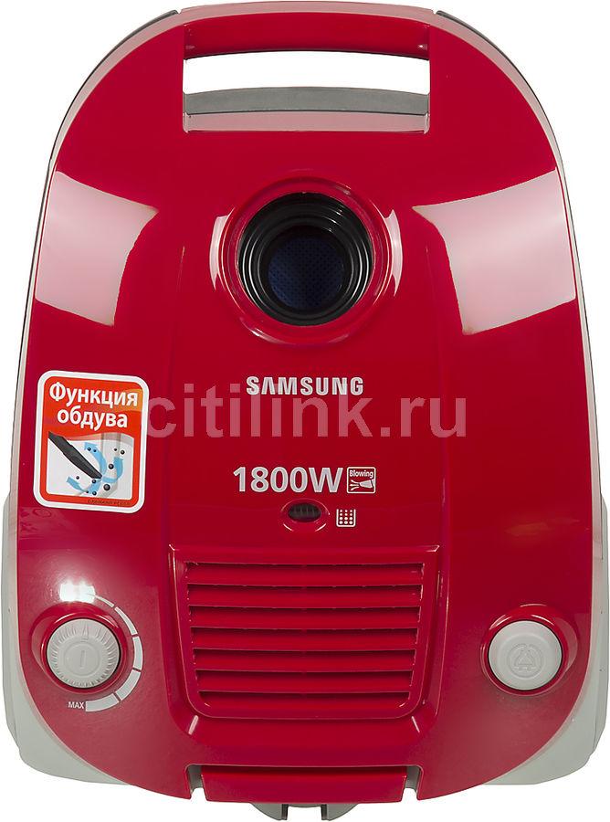Пылесос SAMSUNG SC4181, 1800Вт, красный