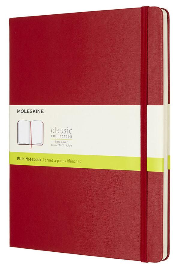 Блокнот Moleskine CLASSIC XLarge 190х250мм 192стр. нелинованный фиксирующая резинка красный [qp092f2]