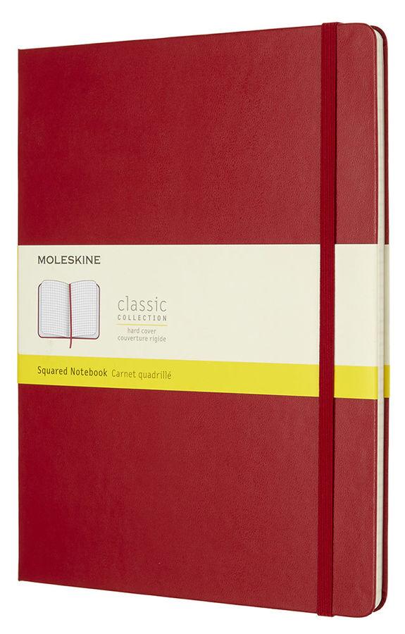 Блокнот Moleskine CLASSIC XLarge 190х250мм 192стр. клетка твердая обложка красный