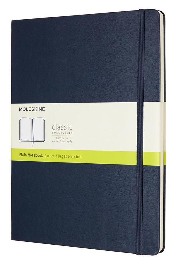 Блокнот Moleskine CLASSIC XLarge 190х250мм 192стр. нелинованный твердая обложка синий