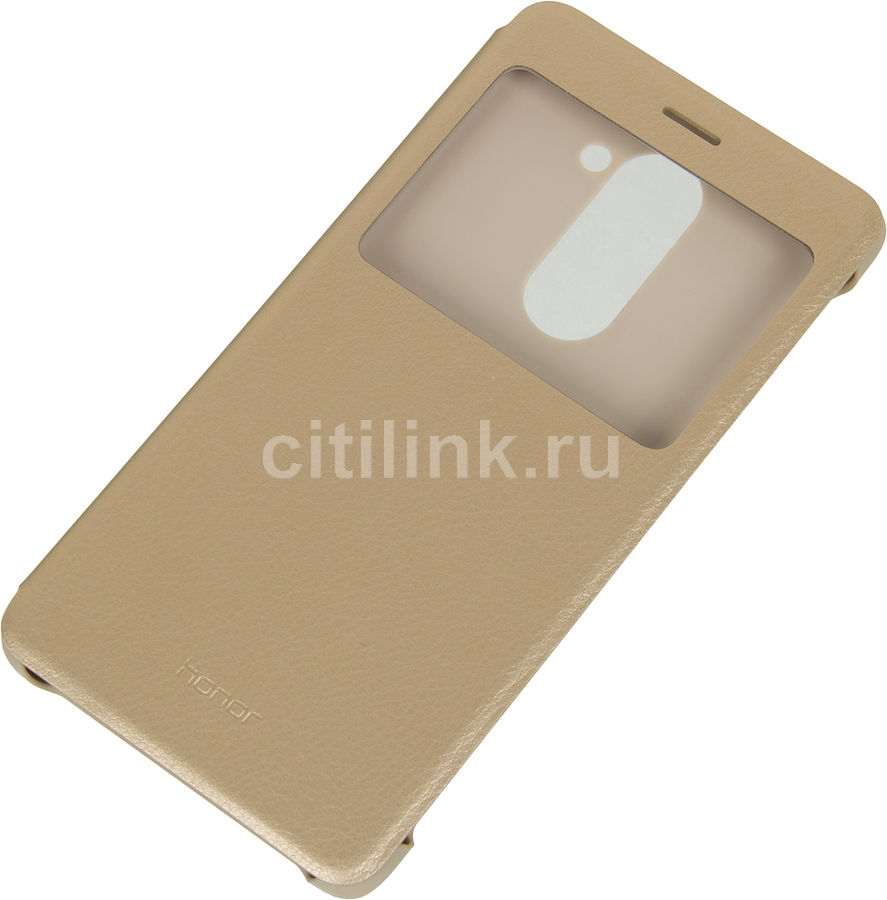 HONOR Чехол (флип-кейс) HONOR Smart Cover, для Huawei Honor 6X, золотистый [51991740]