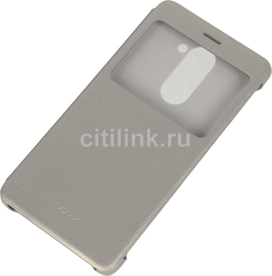Чехол (флип-кейс) HONOR Smart Cover, для Huawei Honor 6X, серебристый [51991741]