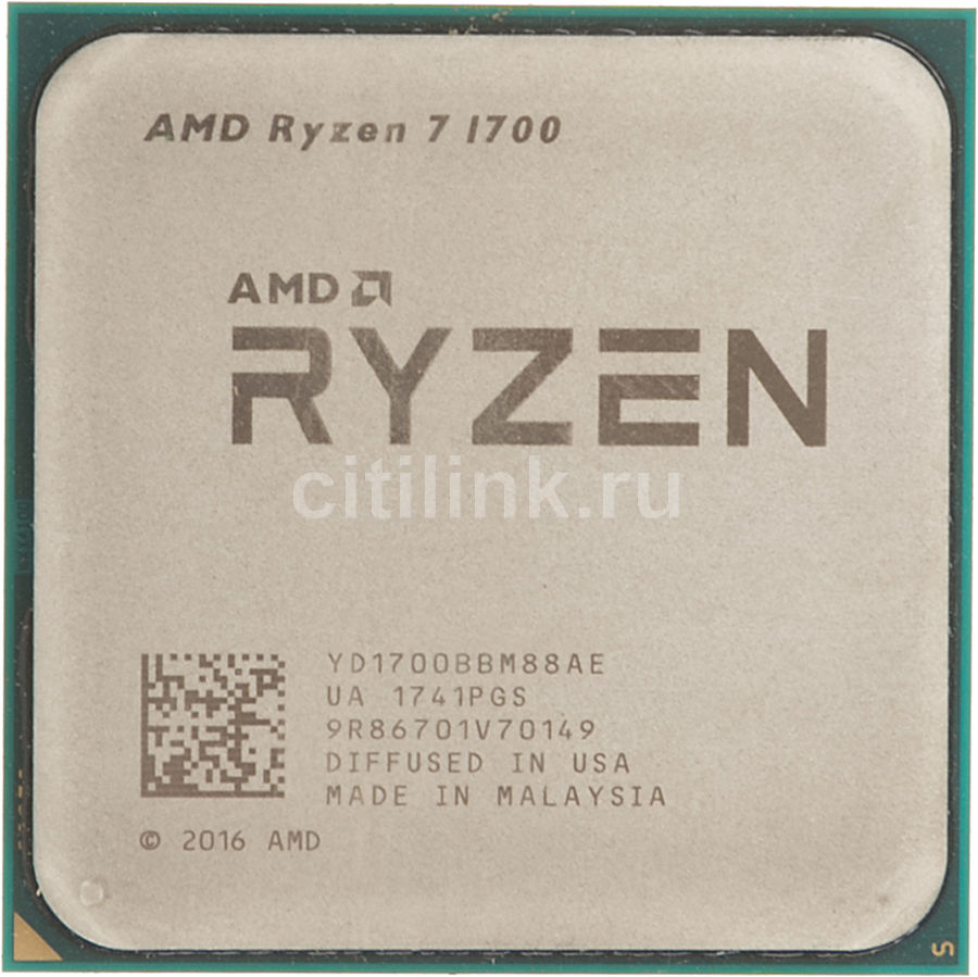Процессор AMD Ryzen 7 1700, SocketAM4 OEM [yd1700bbm88ae]