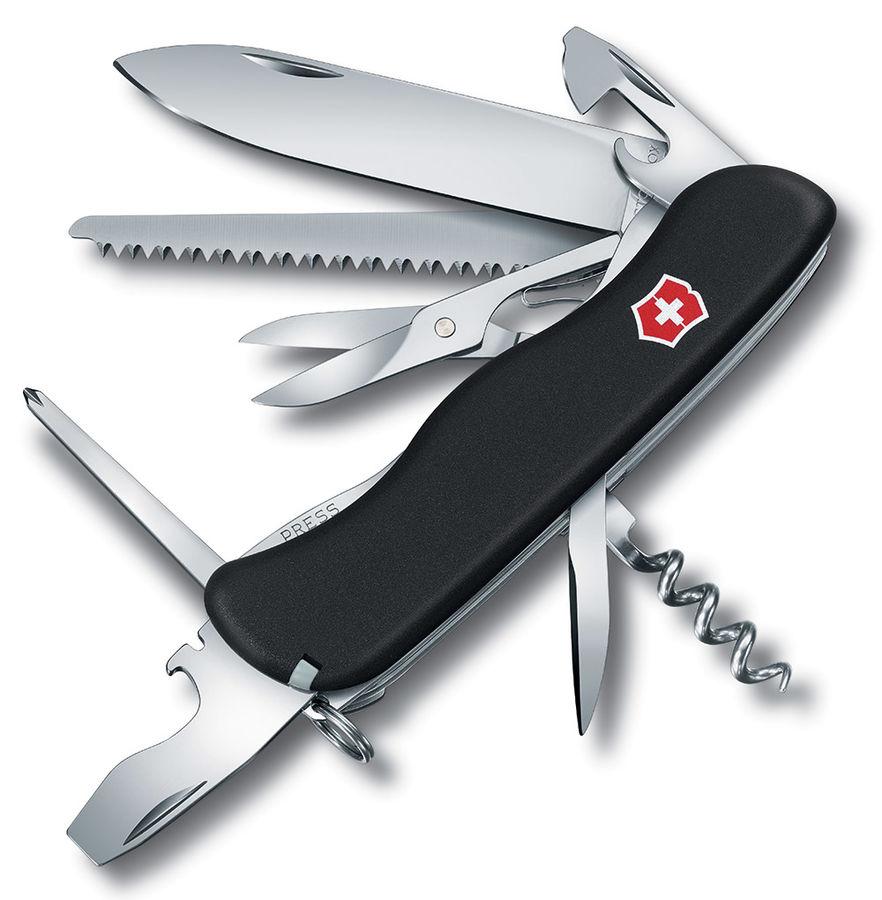 Складной нож VICTORINOX OUTRIDER, 14 функций,  111мм, черный  [0.8513.3]