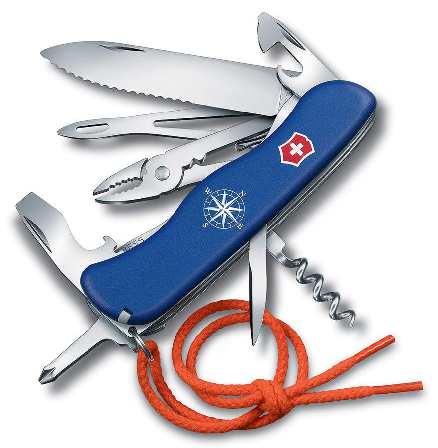Складной нож VICTORINOX SKIPPER, 18 функций,  111мм, синий  [0.8593.2w]