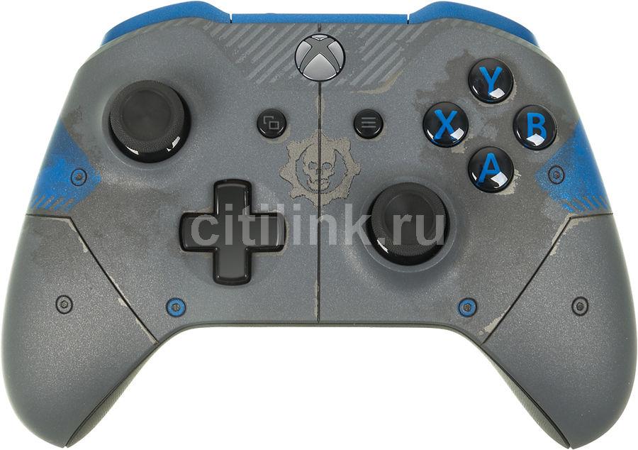 Геймпад Беспроводной MICROSOFT Gears of War 4 JD Fenix, для  Xbox One, серый [wl3-00008]