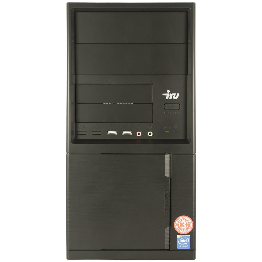Компьютер IRU City 310, Intel Celeron J1800, DDR3 4Гб, 500Гб, Intel HD Graphics, Free DOS, черный [433432] бра arte lamp a7107ap 1ab
