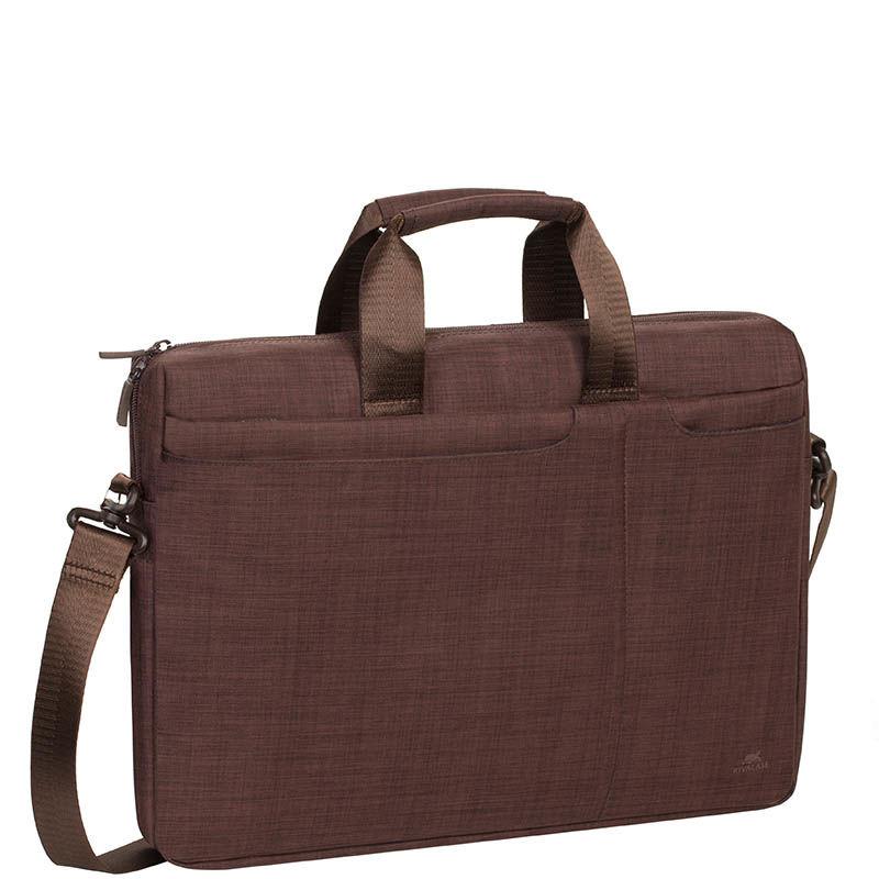 """Сумка для ноутбука RIVA 8335 15.6"""" полиэстер коричневый [8335 brown]"""