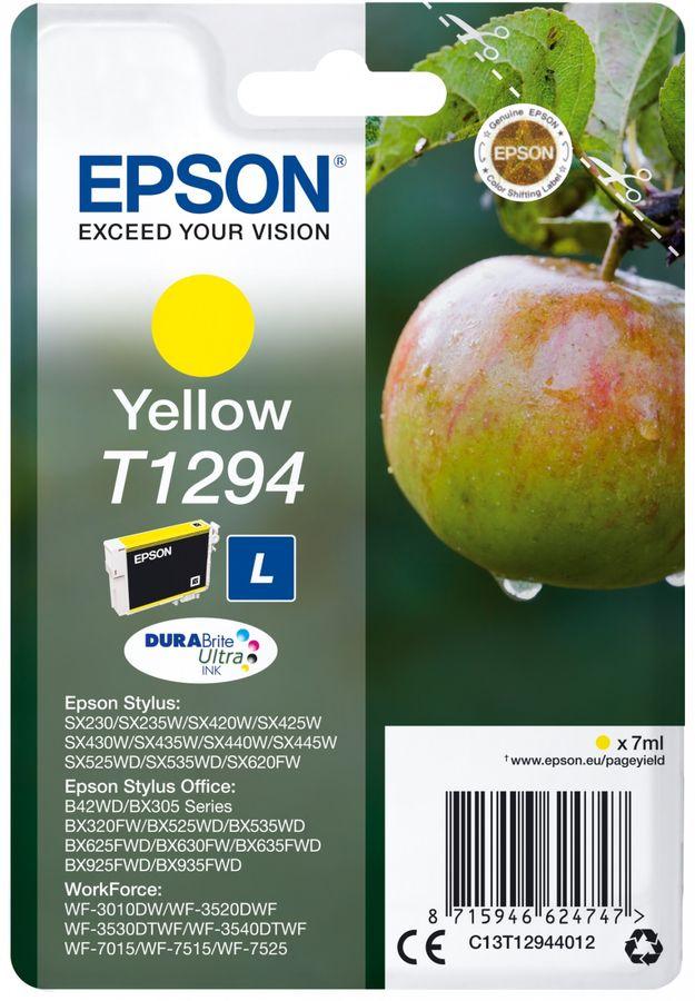 Картридж EPSON T1294 желтый [c13t12944012]