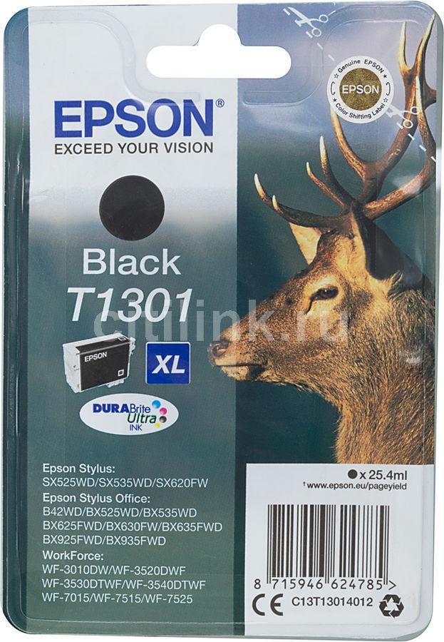 Картридж EPSON T1301 черный [c13t13014012]