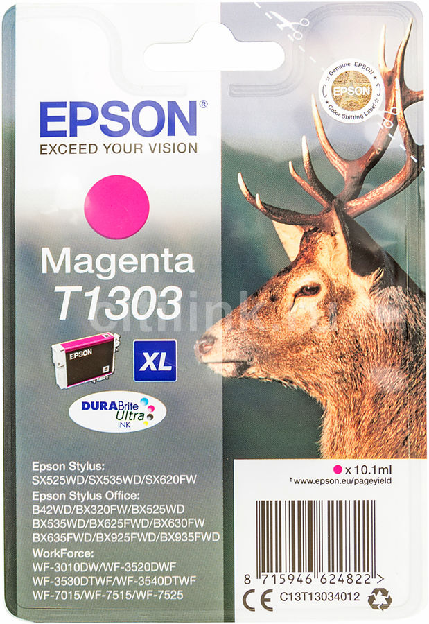 Картридж EPSON T1303 пурпурный [c13t13034012]