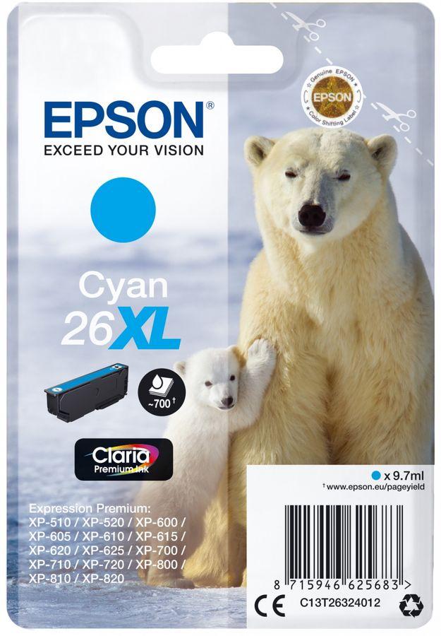 Картридж EPSON T2632 голубой [c13t26324012]