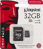Карта памяти microSDHC UHS-I U1 KINGSTON 32 ГБ, 90 МБ/с, Class 10, SDCIT/32GB,  1 шт., переходник SD вид 1