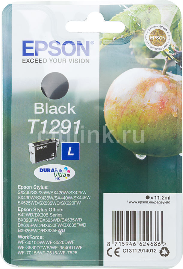 Картридж EPSON T1291 черный [c13t12914012]