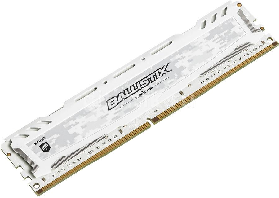 Модуль памяти CRUCIAL Ballistix Sport LT BLS16G4D26BFSC DDR4 -  16Гб 2666, DIMM,  Ret