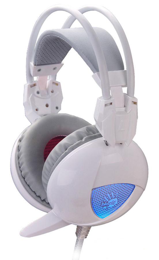 Наушники с микрофоном A4 Bloody G310,  мониторы, белый