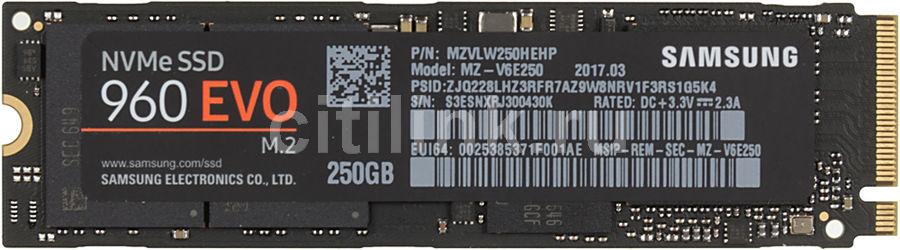 SSD накопитель SAMSUNG 960 EVO MZ-V6E250BW 250Гб, M.2 2280, PCI-E x4