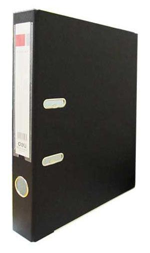 Папка-регистратор Deli E39593BLACK A4 50мм полипропилен/бумага черный мет.окант. разборная смен.карм