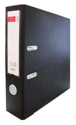 Папка-регистратор Deli E39594BLACK A4 70мм полипропилен/бумага черный мет.окант. разборная смен.карм
