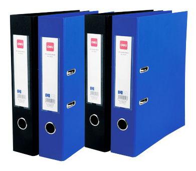 Папка-регистратор Deli E39653BLUE A4 50мм РР/РР синий мет.окант. разборная смен.карм. на кор.