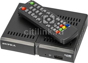 Ресивер DVB-T2SUPRA SDT-84, черный