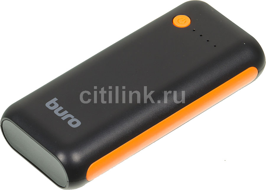 Внешний аккумулятор (Power Bank) BURO RC-5000BO,  5000мAч,  черный/оранжевый